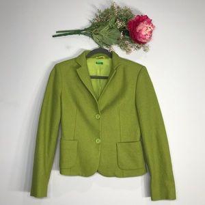 Benetton | Double Button Wool Pistachio Blazer